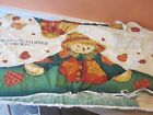 SCARECROW DOOR DRAFT STOPPER FABRIC PANEL PRE-WASHED NEW