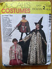 McCall's #6680 Gown Cape Costume Pattern Sizes Small, Medium, Large, XL Uncut