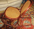 Antique authentic Bentwood Rocker wooden chair Hand Caned Seat