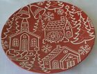 Pier 1 Salad Plate Cookies Church Water Mill Red White Christmas Holiday Town