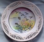 Vintage Porcelain Plate -Flying Geese- Cut-out Edge w/Gold Trim Made in Japan