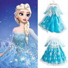 USA SELLER Frozen Elsa Dress Up Gown Costume Ice Princess Queen Anna 2T- 9Y