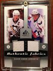 2010-11 SP GAME USED SIDNEY CROSBY ALEXANDER OVECHKIN AF JERSEY FABRICS #48 100