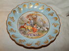 FABULOUS LIMOGES FRANCE  BOWL WITH BAROQUE SCENE AND LOVELY GILDING