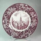 Wedgwood Historical Old North Church Boston Purple Transfer Plate Jordan Marsh