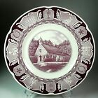 Wedgwood 1950s Wee Kirk O' The Heather CA Purple Transfer Plate Forest Lawn Park