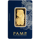 1 Troy oz Pamp Suisse Gold Bar .9999 Fine Fortuna Veriscan