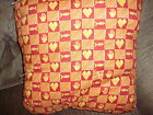 Pillow Quilt/Quillow Orange and yellow 45x56 quilt that folds into a pillow!