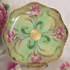 Antique Wittelsboch Germany handpainted Cabinet Plate art deco Tulips