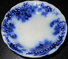 1878-1894 Flow Blue Butter Pat, English Staffordshire, New Wharf Pottery Co.