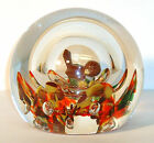 Joe Zimmerman Controlled Bubble Bird Sparrow Paperweight Made in 1974 1979 FUND