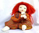 Doll - Kabuki Red Lion Dancer - Japanese Japan - Kimekomi - Renjishi Ak Shishi
