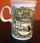 DUNOON CHRISTMAS TREE CUP MUG with CAT by Fireplace (tb3)