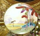 Nippon Noritake/Morimura Hand Painted Plate Scenic Trees in Meadow