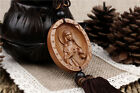 Catholicism Virgin Mary Statue Wood Carved Sculpture Amulet Car Pendant W441