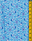 Little Ducks tossed on Blue cotton quilt fabric RJR 1 yd Reproduction 30's