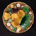 Wedgwood 1860's Majolica Leaf and Berry footed Tazza Compote $299.99 No Reserve