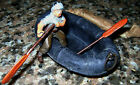 50s Rubber Boat Raft with 54mm Lead Hollowcast soldier Mambru Metralla Argentina