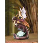 LED Color Change DRAGON RIDER Light Up Faerie Fairy Statue Figure Figurine Pixie