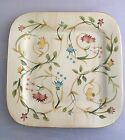 EUC Mint HOME American Simplicity Floral Square Dinner Plate 11 1/4