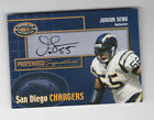 Junior Seau 2000 DONRUSS PREFERRED SIGNATURES ON-CARD AUTOGRAPH #PS18 Chargers