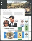 ROYAL WEDDING DIANA CHARLES ON SIERRA LEONE 1981 Sc 513515517 in BKLT MNH