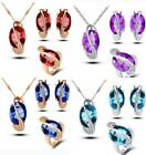new  Austrian Crystal Necklace Eaarrings ring  Accessory For Woman Wedding Party