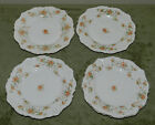4 LOVELY ANTIQUE GERMAN HERMANN OHME ELYSEE BREAD PLATES!! SILESIA GERMANY