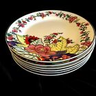 6 NEW Imperial Leaf China Salad Plate Multi-Color Gold 7.5