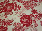2 yards Lovely Large Print Red Floral Craft sewing fabric
