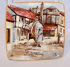 Vintage New Hall Hanley STAFFORDSHIRE England MR BUMBLE OLIVER TWIST Pin Dish