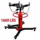 A+1660lbs 075Ton Transmission Jack 2 Stage Hydraulic w 360 for car auto lift