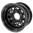 Black 15x8 D Window Steel Wheels for Jeep Wrangler YJ TJ 1987 06 SET OF 4