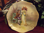 BEAUTIFUL ARTIST SIGNED DUBOIS LIMOGES CHARGER OF COURTING COUPLE