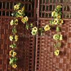 2pcs Artificial Sunflower Garland Silk Flower Vine Wedding Fence Decoration