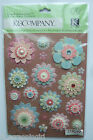 BAILEY PAPER FLOWERS Grand Adhesions Stickers K  Company CO FAMILY scrapbook
