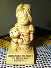 Vintage Paula figurine 1970 W174 REMEMBER ME MOM?  made in USA message figure