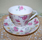 VINTAGE SHABBY COTTAGE CHIC PINK FLORAL FLOWERS ROSES JYOTO TEACUP