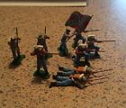 Vintage Britains Eyes Right/Swoppet ACW Confederate soldiers