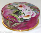Vintage Limoges France Large Porcelain Dresser Vanity Box Hand Painted Signed