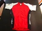 Vintage Red Cannondale Bicycle Jersey Mens Size Large Half Zip