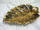 Stangl Pottery Black 22k Gold Hand Painted Leaf Dish Tray Platter No. 4038