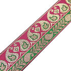 Metallic Threaded Jacquard Trim Designer Paisley Pattern Sari Sewing Lace 3yd