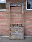 35 X 87 ANTIQUE VICTORIAN PINE EXTERIOR ENTRY FRONT WOOD DOOR FLASH GLASS