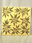 c1890s MAW & Co. English Pottery Tile  - Brown Floral Transfer Tile