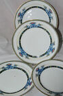 VTG 1920th NORITAKE DAVENTRY JAPAN DINNERWARE SET 4plate FLORAL BLUE YELLOW GOLD