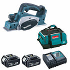 MAKITA 18V LXT DKP180 DKP180Z PLANER AND 2 x BL1840, 1 x DC18RC, 1 x BAG