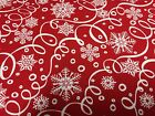 1 Yard Winter Essentials III Red Snowflake From Studio E