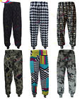 Womens Harem Pants Ladies Printed Cuffed Bottom Ali Baba Trousers lot Sizes 8-26