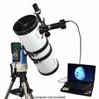 White 6 Computer Controlled Telescope with Digital Camera 3 Megapixels